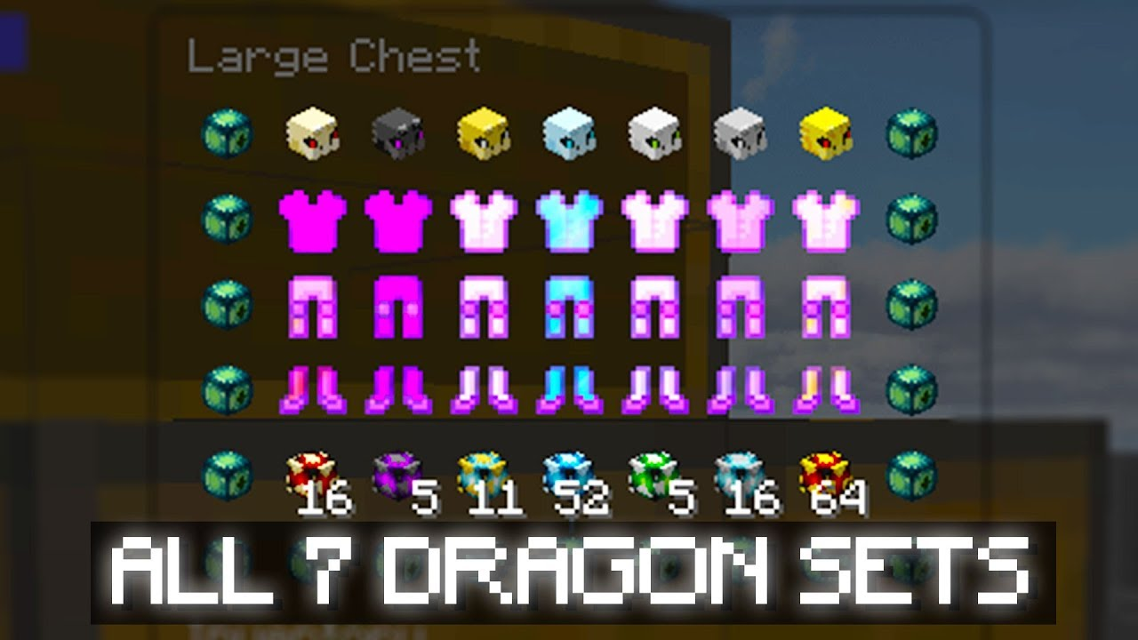 Ranking All Dragon Armor In Hypixel Skyblock Youtube If you leave without dyeing it again it wont work. ranking all dragon armor in hypixel skyblock
