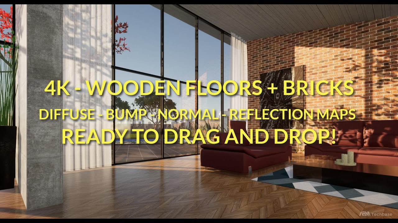 Twinmotion - 4K Wooden Floors + Bricks