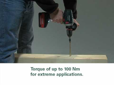 Metabo Lithium Ion Cordless 18 Volt Drills Demonstration