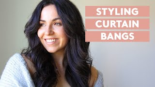 How To Style Curtain Bangs
