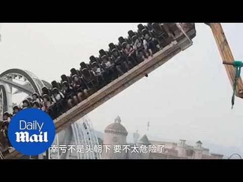 Thrill-seekers trapped on theme park ride for 40 minutes in China