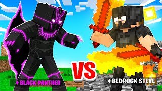 BLACK PANTHER vs BEDROCK ARMOR in Minecraft