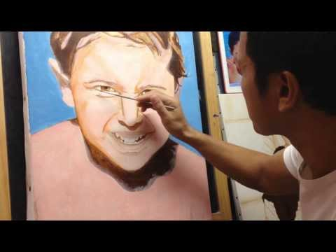 Portrait Malerei 003 Hautfarbmischung Jean-Charles
