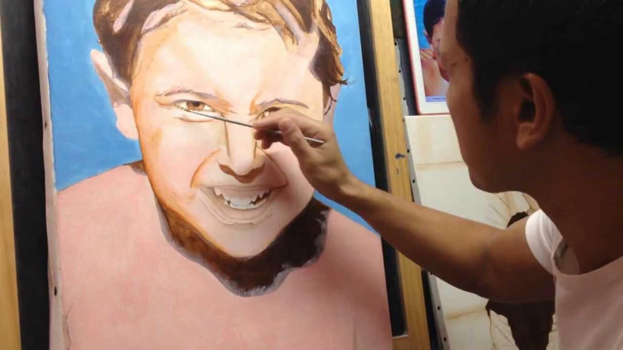 Portrait Malerei 003 Hautfarbmischung Jean Charles Youtube