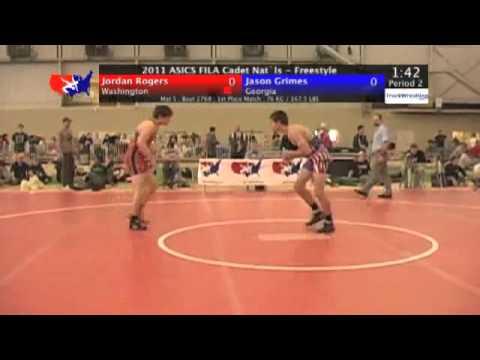 FILA Cadet Freestyle Final 76kg  Jordan Rogers vs. Jason Grimes