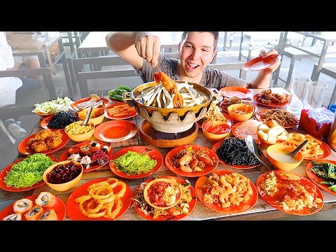 The Best All You Can Eat Buffet I've Ever Seen • MUKBANG