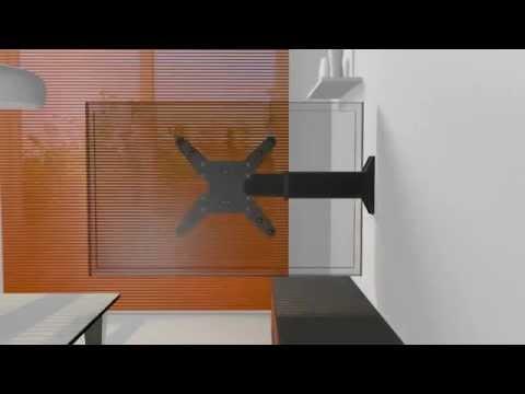 Tv Beugel Voor In Kast.Dq Shift Lcd Uitschuifbare Tv Beugel Lcdwandbeugels Nl Youtube