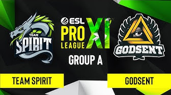 CS:GO - GODSENT vs. Team Spirit [Nuke] Map 2 - ESL Pro League Season 11 - Group A