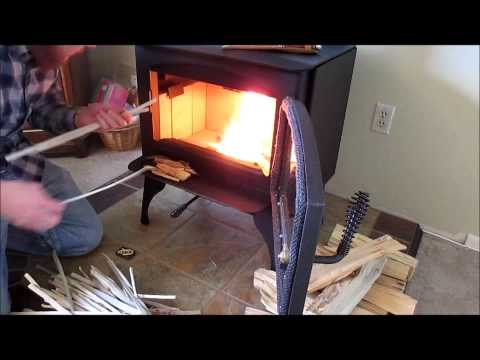 New Wood Burning Stove Lopi Republic 1250 First Burn