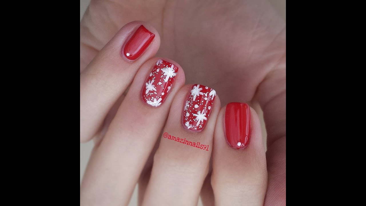 Christmas Nail Designs Tutorial: Christmas Nail Art Tutorial #1