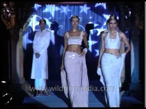 Glimpse Of Saree Madness At Ravi Bajaj's Spring Summer 1999 Fashion Show