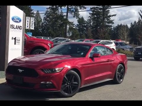 2017 ford mustang ecoboost premium coupe heated cooled seats review island ford youtube. Black Bedroom Furniture Sets. Home Design Ideas