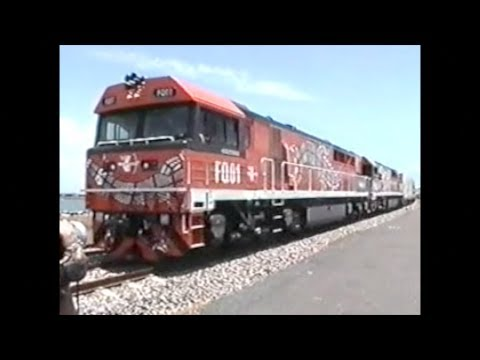 First Freight Into Darwin 2004. Ghan 2016