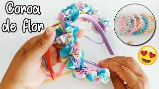 Coroa de flor Candy Colors + Kit pulseirinhas