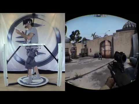 Cyberith Virtualizer + Battlefield 4 + Counterstrike GO + Oculus Rift. Teaser Video!