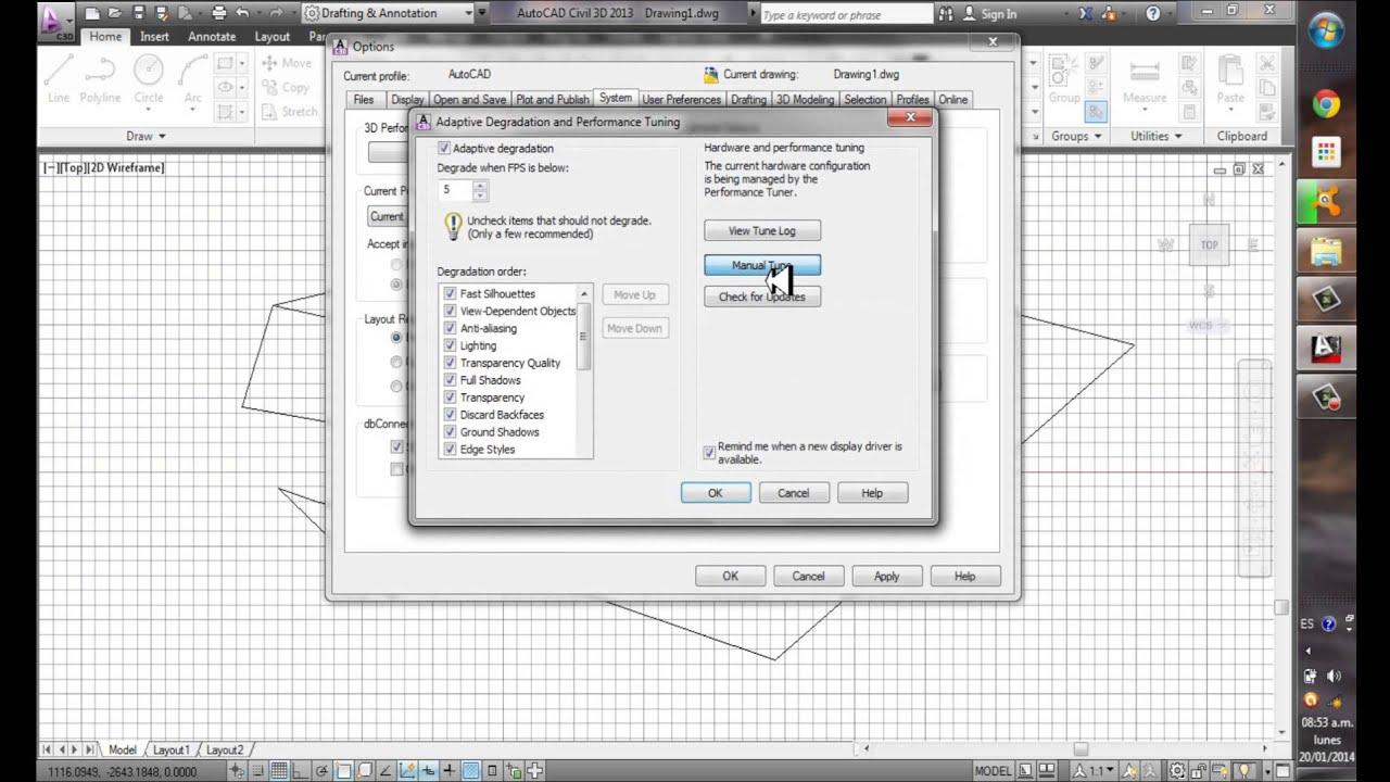 Cómo optimizar y configurar tú AutoCAD