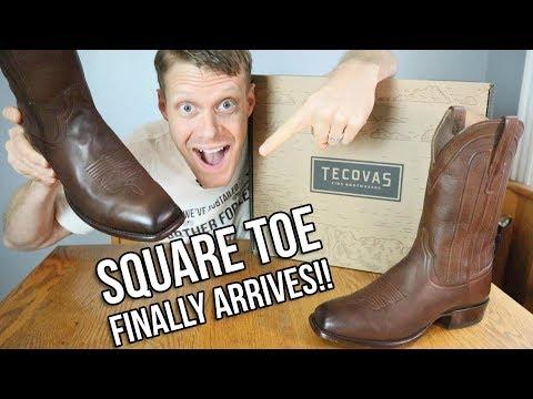 Tecovas Square Toe Cowboy Boots FINALLY ARRIVE!!