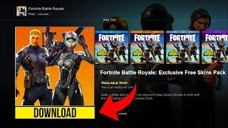 HOW TO GET NEW FREE SKINS In Fortnite - Fortnite Battle Royale Exclusive Free Skins Pack Update