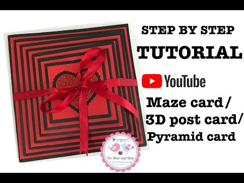 How to make  Maze card/ 3D Postcard / Pyramid card/ Best Han
