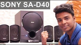 SONY SA-D40 Home Theater Unboxing and Review | Sound Test
