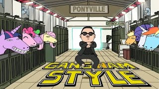 Download My Little Pony Invades Gangnam Style (HD) MP3 song and Music Video