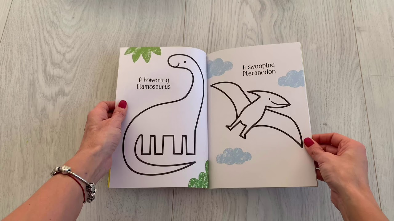 Little first colouring Dinosaurs Usborne - YouTube