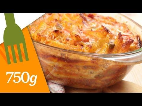 Gratin de pâtes au jambon - 750g