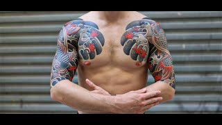 KOI FISH JAPANESE TATTOO SLEEVES & CHEST PLATE.