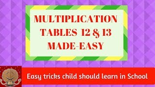 MULTIPLICATION TABLES made easy | Multiplication without table | EASY TRICKS child should learn