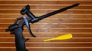 Обзор пистолета для монтажной пены Intertool PT-0606 с полным тефлоновым покрытием