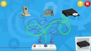 Детская Игра Мультфильм - Фиксики: Кабельный Салат Нолик и Шпуля