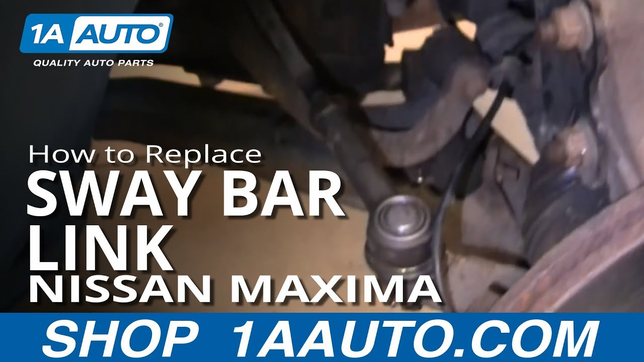 how to install replace broken rattling stabilizer bar mount 1999 03 nissan maxima [ 1280 x 720 Pixel ]