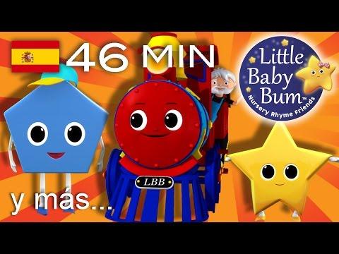 El tren de las formas | Y muchas más canciones infantiles | ¡LittleBabyBum!