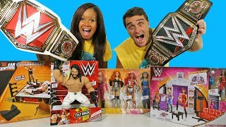 WWE Toy Challenge Women's RAW Vs World Heavyweight Championship Belts ! || Toy Review || Konas2002