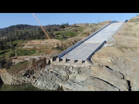 Oroville Spillways Phase 2 Update Mid-February 2018