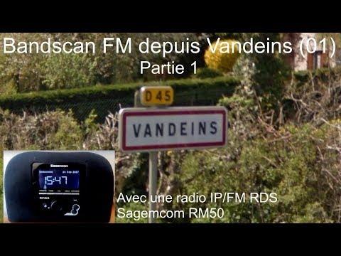 Bandscan FM réalisé à Vandeins sur un poste Radio IP Sagemcom RM50 (1/2)
