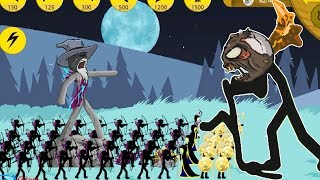 Скачать Stick War Legacy Spearton Gold Archidon VS Zombie Part 132