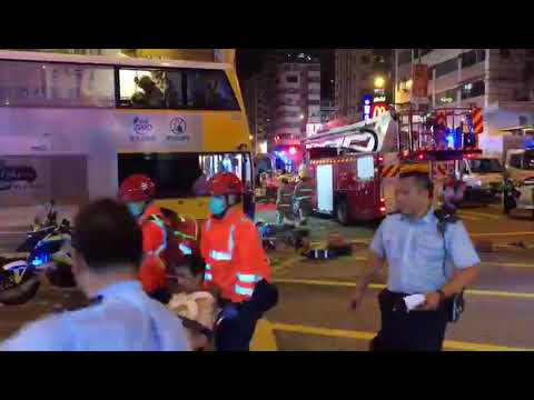 Dozens injured in Hong Kong bus crash