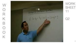 2010 E Learning Math Sec 2 Simultaneous Equations Episode 2 of 2
