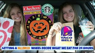 Letting A Halloween Wheel Decide What We Eat for 24 Hours ~ Jacy and Kacy