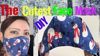 188 How To Make The Best Fitted Cutest Face Mask At Home The Twins Day Face Mask Sewing Tutorial