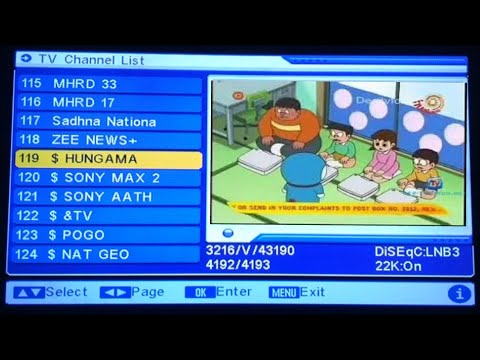 New frequency Of Dd Free dish 2018 working paid channels on dd free dish