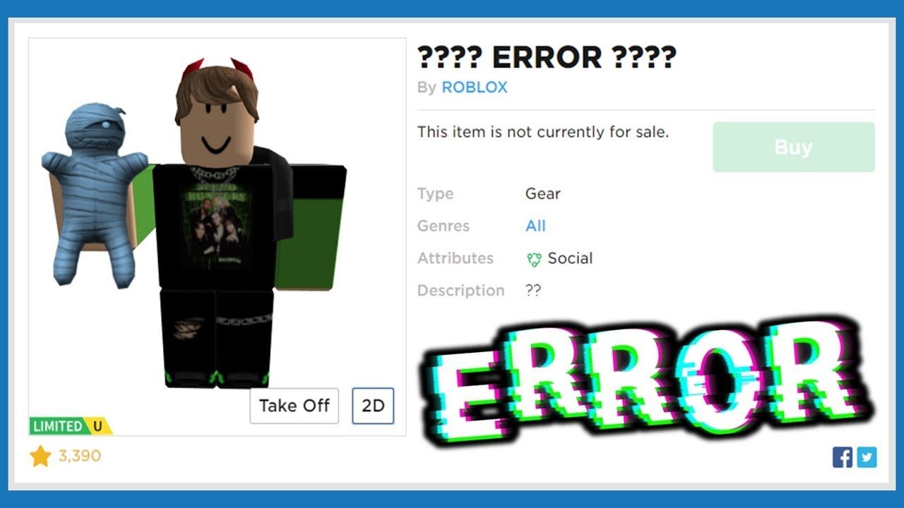 Wearing Glitched Hats & Gear On Roblox! - YouTube