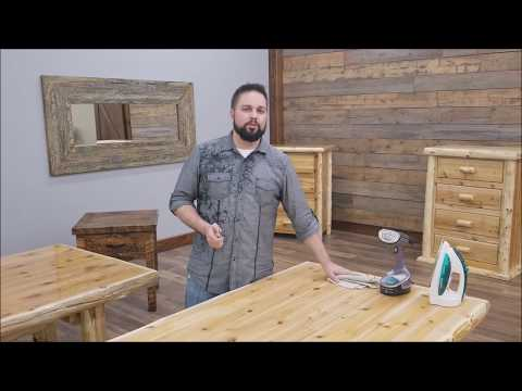 Fixing a Dent or Gouge in Solid Wood Rustic Furniture