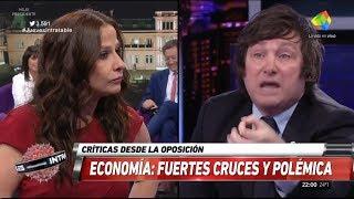 """Milei liquida a una zurda cubana: """"Si tanto te gusta Cuba, te pago el pasaje para q vuelvas""""29/03/18"""