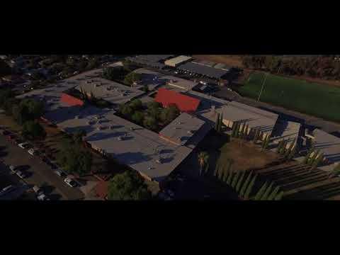Hillview Junior High School as seen from above