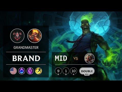 Brand Mid vs Zed - NA Grandmaster Patch 10.2