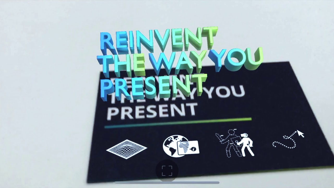 Augmented Reality Businesscard Inscale