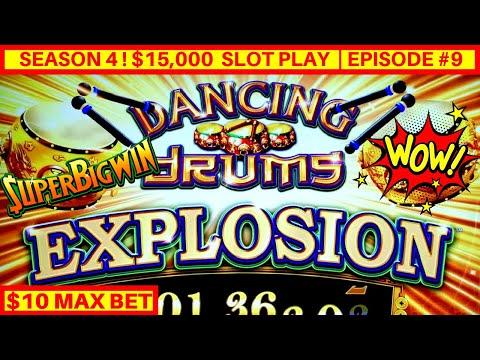 NEW Dancing Drums EXPLOSION Slot Machine $10 Max Bet Bonus