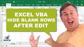Learn Excel - Hide Blank Rows With Event Handler - Episode 1737